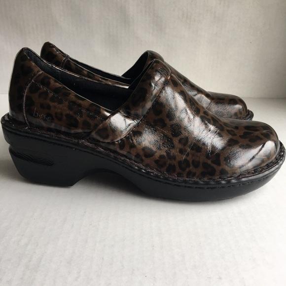 212745733702 boc Shoes | Born Concept Womens Nursing Clogs Leopard | Poshmark